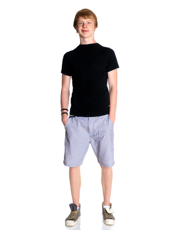 Young guy in shorts and a vest