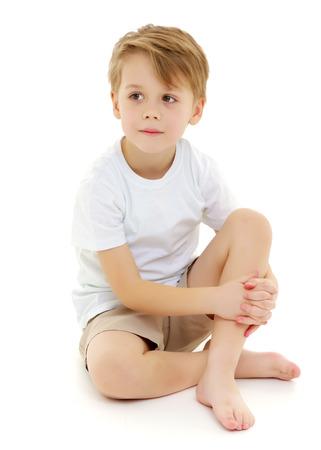 Niño triste. Foto de archivo