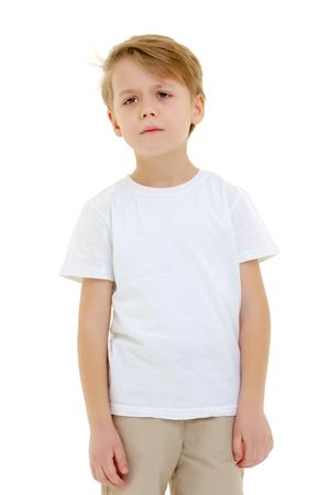 Sad little boy.