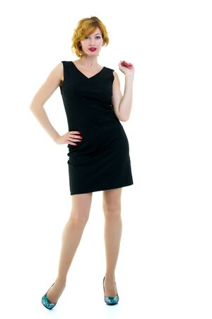 portrait in full growth of a successful young business woman Stock Photo