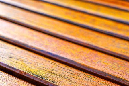 Wooden slats. Natural wood lath line arrange pattern texture bac Stock Photo