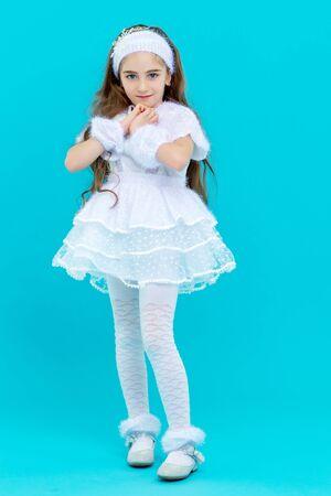 Little girl in an elegant dress. Stockfoto