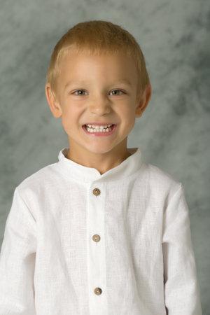 The little boy smiles. Portrait.Close-up.