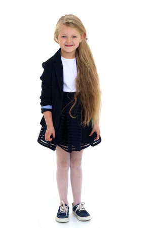 Cute girl elementary school student