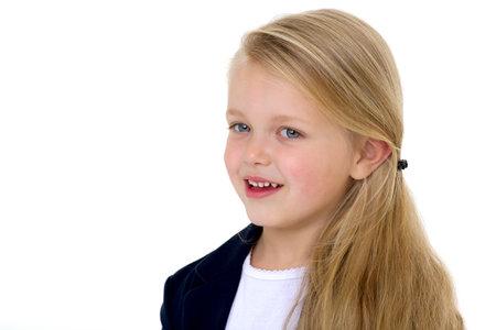 Portrait of adorable blonde little girl