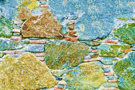 Ancient Stone Wall Made of Natural Rough Stones, Old Masonry