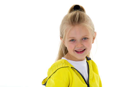 Portrait of a cute six year old girl