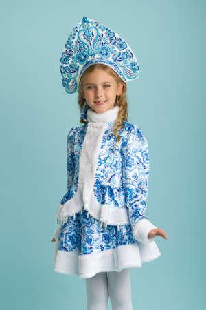 Portrait of lovely Snow Maiden girl