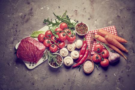 Fresh ingredients for healthy cooking 写真素材