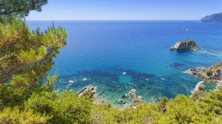 Crete island with beautiful beach in Greece Imagens