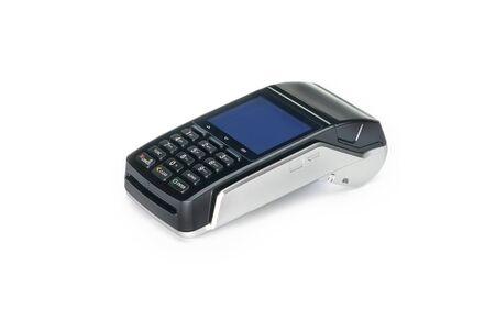 Payment terminal, compact POS terminal Stockfoto - 142089042