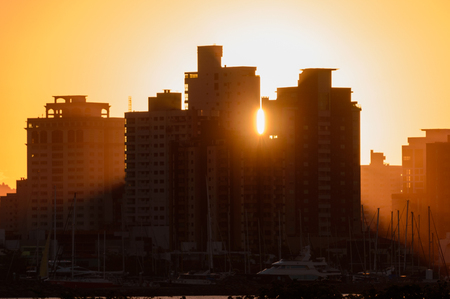 Cityscapes: Remnants of a day at Itajai, Brazil