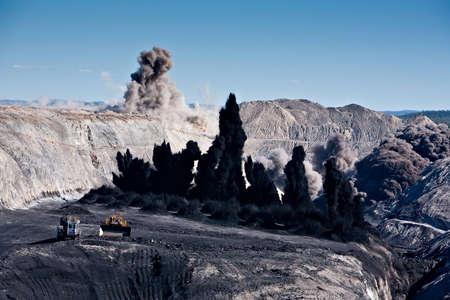 carbone: Coal Mining esplosione Archivio Fotografico