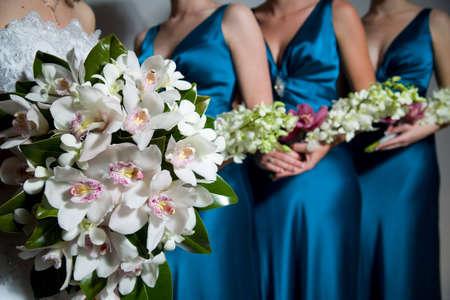 bridesmaid: Close up of Bride