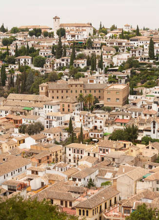 Albaicin of Granada seen from the Alhambra palace in Spain Stock Photo - 12701193