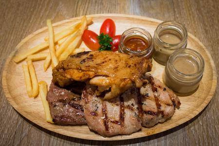 triple: Triple Steak  Beef Pork Chicken