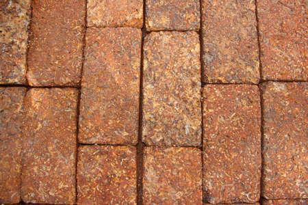 brick floor: De ladrillo envejecido textura del piso Foto de archivo