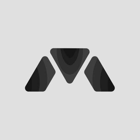 Simple Abstract Logo. Simple Abstract Logo M Letter with abstract Bird Beak Shape. Simple Flat Logo with Elegant Style 向量圖像