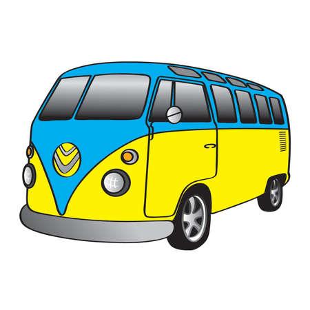 camper: Classic Camper Van Illustration