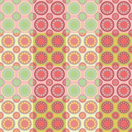 naadloos retro patroon in 4 verschillende kleurencombinaties