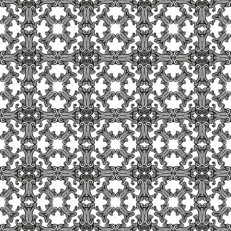 Naadloos achtergrond patroon in zwart op een witte achtergrond