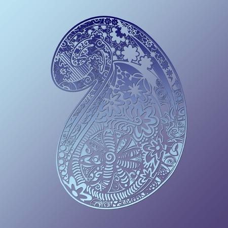 Gedetailleerde illustratie, paisley design