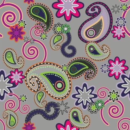 Naadloos achtergrond patroon met  Paisley design