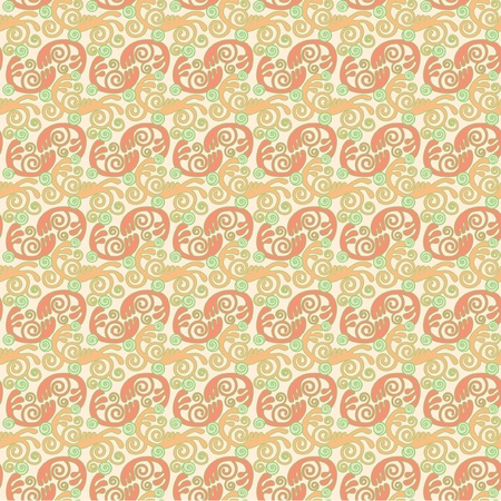 Naadloos patroon van krullen en swirls