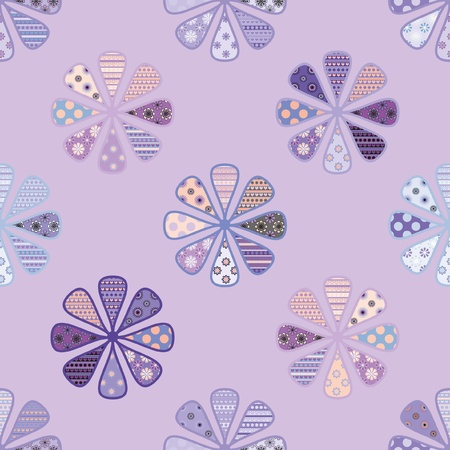 colored paper: seamless pattern of bright flowers
