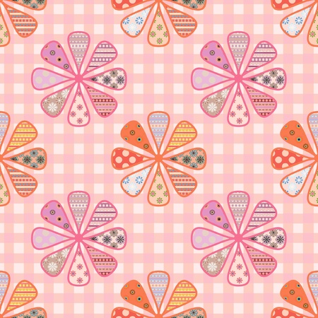 seamless pattern of bright flowers