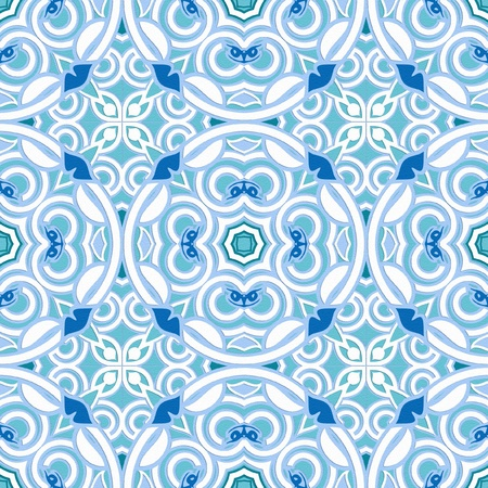 seamless pattern in two color combinations on separate layers Illustration