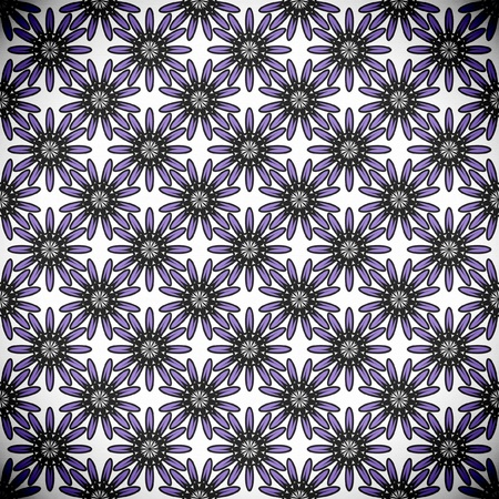 seamless flower pattern in 6 color combinations on separate layers Illustration