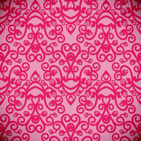 seamless design with hearts in 8 colors on separate layers