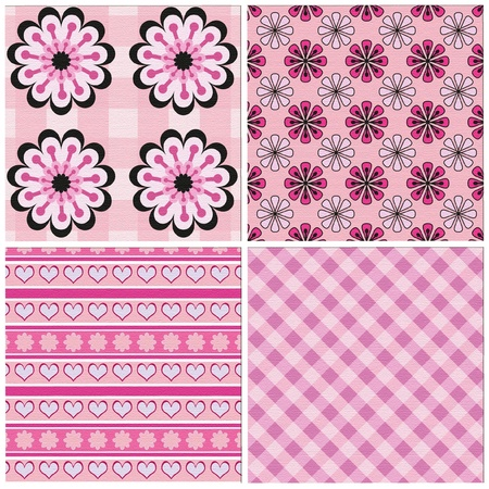 set of 4 seamless patterns Stock Vector - 12206548