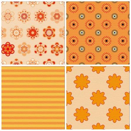 set of 4 seamless patterns Illustration