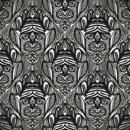 seamless pattern, tattoo or tribal design