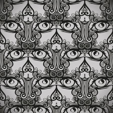 seamless pattern, tattoo or tribal design