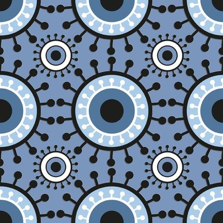seamless retro pattern circles