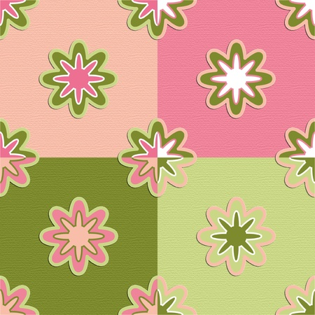 seamless retro pattern flowers