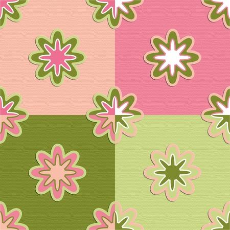 seamless retro pattern flowers