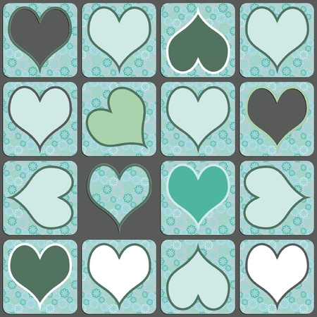 heart pattern illustration green