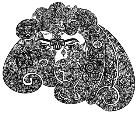 Decorated fantasy head