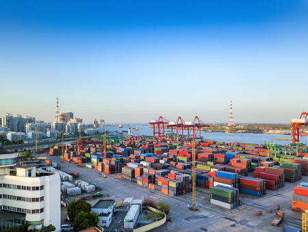 Shanghai Port Container Terminal scenery