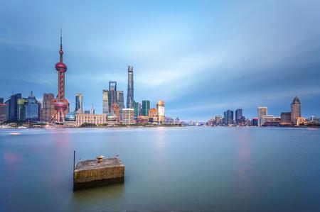 Shanghai cityscape 版權商用圖片 - 114329900