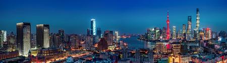Shanghai night view panorama