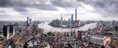 Shanghai city panorama view