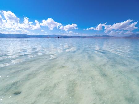 Chaka Salt Lake scenery 스톡 콘텐츠 - 114805095