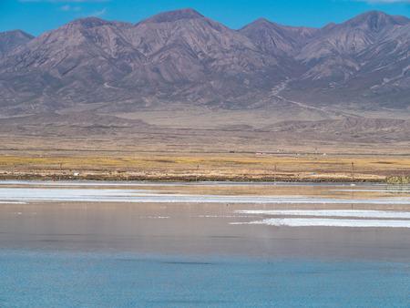 Chaka Salt Lake scenery 스톡 콘텐츠 - 114805100