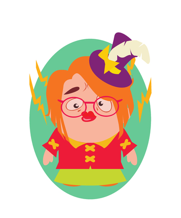 Serious and Bitter, Funny Avatar of Little Person Cartoon Character in Flat Vector Illustration
