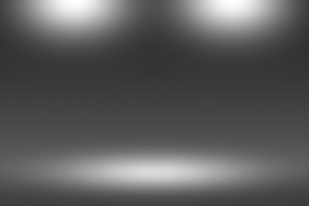 Product Showscase Spotlight on Black Background - Soft and Fuzzy Infinite Dark Floor - Stage for Modern Clean Minimalist Design, Wide-Screen in High Resolution Stock Photo